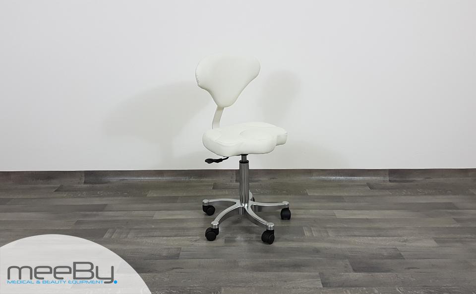 Sgabello estetica sedia estetista manicure pedicure schienale